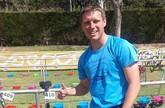 Thomas Bonsack, miembro del club Totana Triathlón, participó en el Halo Triatlón Sevilla
