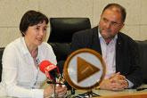 Rueda de prensa del Alcalde de Totana y la Concejala de Hacienda