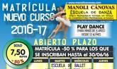 La Escuela de Danza Manoli Cánovas abre el plazo de matrícula para el curso 2016-17