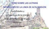 Convocan un foro sobre las últimas novedades de la línea de alta tensión, que tendrá lugar en Aledo el próximo viernes