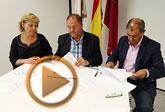 El Ayuntamiento y UCOMUR suscriben un convenio para dinamizar el Vivero de Empresas