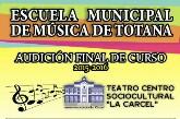 La Escuela Municipal de Música organiza un total de dieciocho audiciones del 20 al 29 de junio con motivo del final de curso 2015/2016
