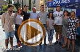 El secretario general del PP regional y presidente de la Comunidad, Pedro Antonio Sánchez, mantuvo un encuentro con afiliados y simpatizantes en Totana