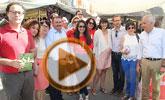 La candidata del PSOE-RM al Congreso de los Diputados, María González Veracruz y miembros el PSOE local y regional visitan el mercadillo de Totana