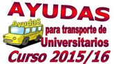 Convocatoria ayuda transporte universitario 2015/1016