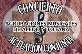 Las Agrupaciones Musicales de Aledo y Totana realizan una actuación conjunta este sábado en la plaza de la Constitución