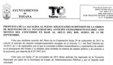 Los fallidos Planes de Ajuste del PP en 2012 y 2013, costarán 35 millones de euros a los totaneros