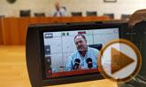 El alcalde de Totana ofreció una rueda de prensa sobre el Plan General