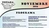El programa Totana Cultural aglutina durante el mes de noviembre conciertos, presentación de libros y actuaciones de los alumnos de la Escuela Municipal de Música