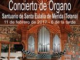 La Fundación La Santa organiza un recital de órgano en el Santuario de Santa Eulalia el próximo sábado 11 de febrero