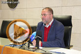 Rueda de prensa. Alcalde de Totana (Pleno extraordinario: propuesta Alcaldía refinanciación préstamo BBVA)