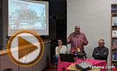 Floren Dimas y Alfonso Cayuela, investigadores de la memoria histórica, disertan en una charla sobre la represión política y las cárceles de Totana tras la Guerra Civil