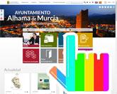 La p�gina web del Ayuntamiento de Alhama de Murcia, desarrollada por la empresa totanera Avatar Internet, finalista en los Premios Web de La Verdad