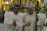 """""""Estamos aquí para dar a gracias a Dios porque se ha fijado en ti"""", Mons. Lorca a Javier Conesa en su ordenación sacerdotal"""