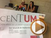 La nueva extensión permanente de la Universidad de Murcia arranca su actividad en Totana con una charla y la exposición Centum sobre los cien años de esta institución docente