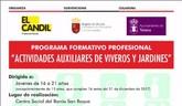 Abierto el plazo de matriculación para el programa formativo profesional de actividades auxiliares de viveros y jardines