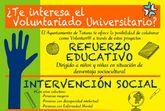 La Concejalía de Juventud oferta, un año más, el programa de Voluntariado Universitario para el curso 2017/2018