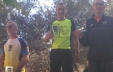 Podio de Juan Francisco García, del Club Atletismo Totana, en la IX Ruta del Jamón de María