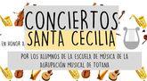 La Escuela de Música de la Agrupación Musical organiza varios conciertos en los próximos días en honor de Santa Cecilia