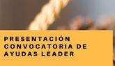 Mañana 13 de diciembre se celebrará un acto oficial de presentación de la convocatoria de ayudas Leader en el salón de plenos