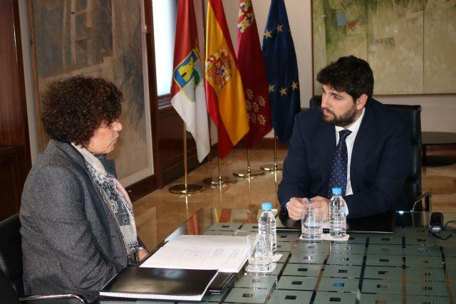 Fernando López Miras recibe a la alcaldesa de Puerto Lumbreras - 2, Foto 2