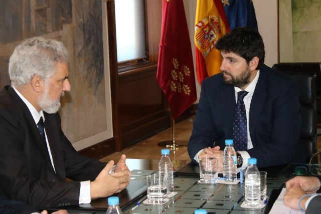 López Miras se reúne con el presidente de Navantia y miembros del Comité de Dirección de la empresa, Foto 1
