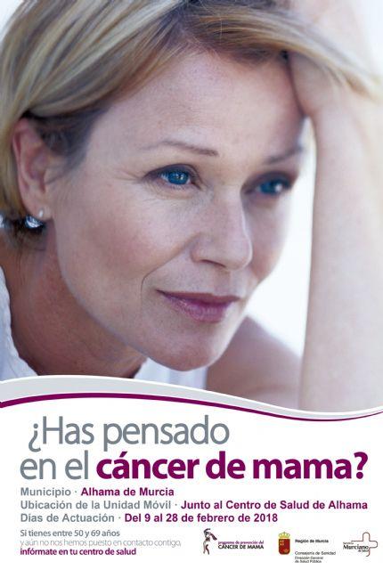 Programa de prevención del Cáncer de Mama: del 9 al 28 de febrero de 2018, Foto 1