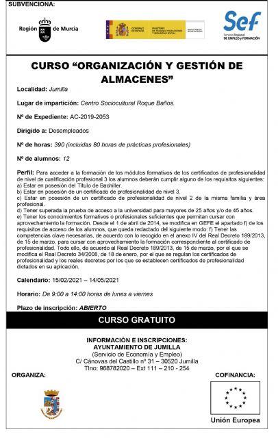 Abierto el plazo de inscripción para los cursos 'Organización y gestión de almacenes' y '+Formación' - 1, Foto 1
