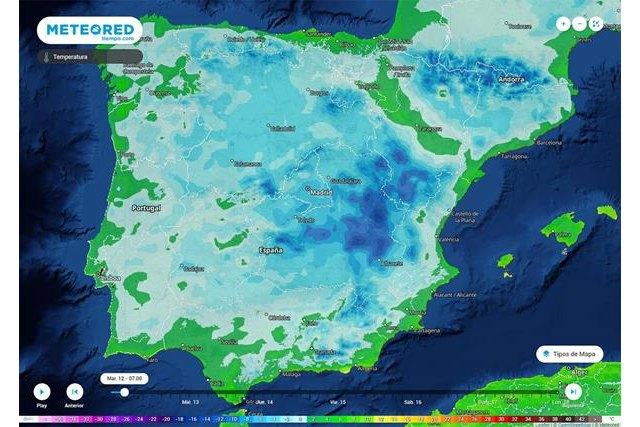 Esta madrugada se han alcanzado los -30 °C en algunas zonas del país., Foto 1