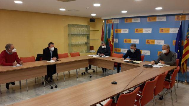 El presidente de la Confederación Hidrográfica del Segura ha mantenido un reunión de trabajo con los alcaldes de Mula y Pliego - 1, Foto 1