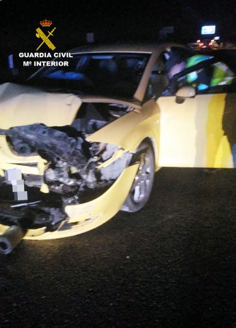 La Guardia Civil investiga a un conductor por circular en sentido contrario y ebrio en la autov�a RM-3 (Totana-Mazarr�n), Foto 3