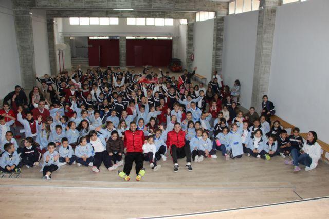 ELPOZO AL COLE| Pito y Fernan comparten la jornada con los escolares del Colegio Luis Vives de Murcia - 1, Foto 1