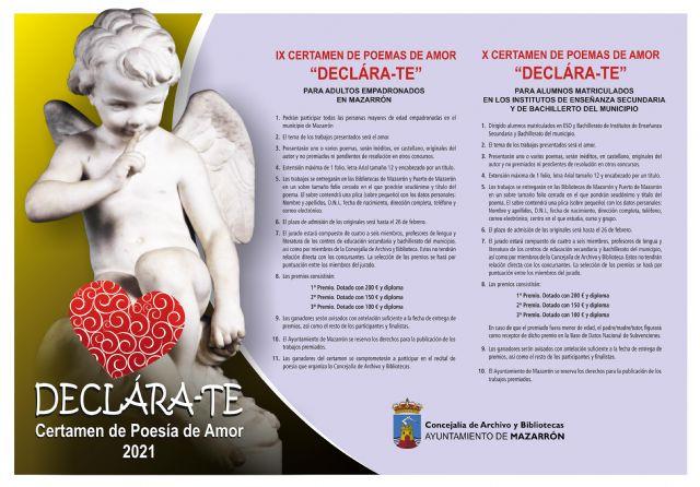 Abierto el plazo de inscripción para el X certamen de poemas de amor declara-te - 1, Foto 1