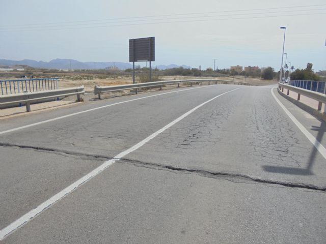 Salen a licitación los trabajos para mejorar el firme y el drenaje de la carretera que enlaza Mazarrón y Bolnuevo - 1, Foto 1