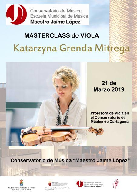 El Conservatorio Profesional de Música Maestro Jaime López de Molina de Segura organiza una master class de viola el jueves 21 de marzo - 1, Foto 1