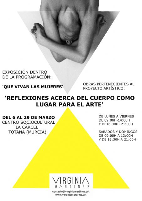 "Continues until March 29, in ""La Cárcel"", the exhibition of works of the artistic project ""Reflections about the body as a place for art"", by Virginia Martínez - 3"