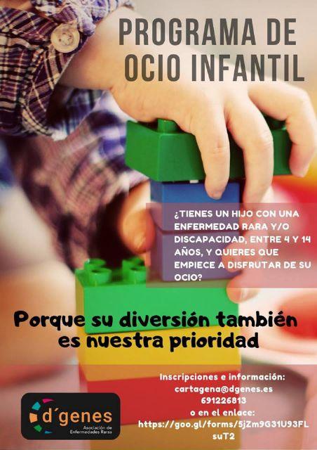 D´Genes oferta un Programa de ocio infantil dirigido a niños de 4 a 14 años con discapacidad o enfermedades raras - 1, Foto 1