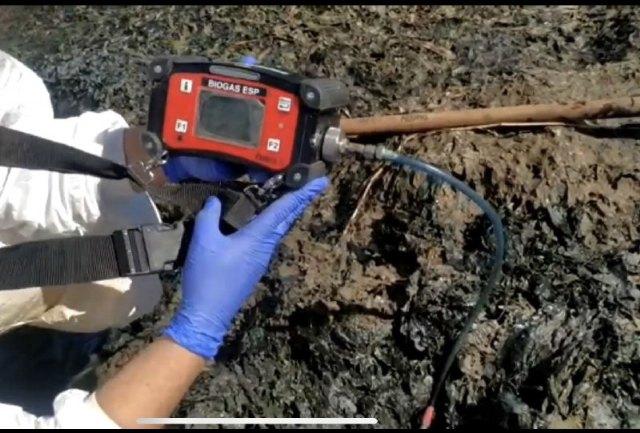 Denuncia de la presencia de un gas tóxico en la playa de los urrutias, por la materia acumulada - 3, Foto 3