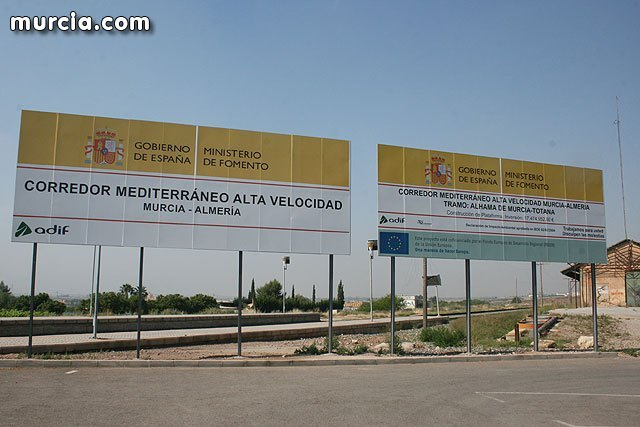 """The BORM publishes Adif's ad, for which the """"Construction project of the AVE Murcia-Almeria Mediterranean Corridor platform on the Sangonera-Lorca section"""" is submitted to public information for expropriation purposes. Expropriation aff - 1"""
