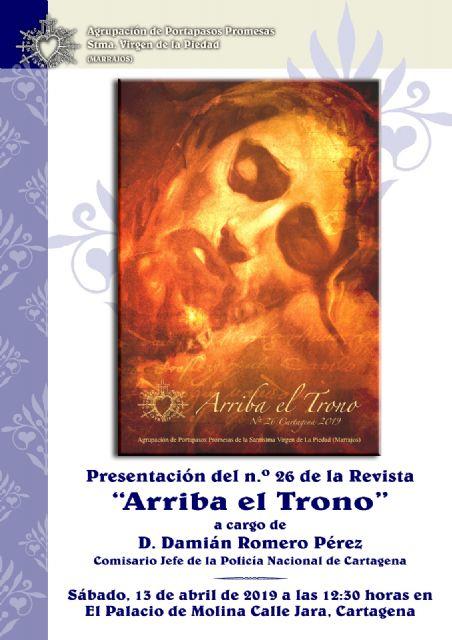 Los portapasos de la Piedad presentan un nuevo número de la Revista Arriba el Trono - 1, Foto 1