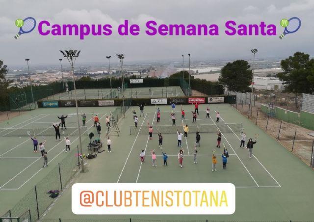 [Finaliza el Campus de Semana Santa en el Club de Tenis Totana