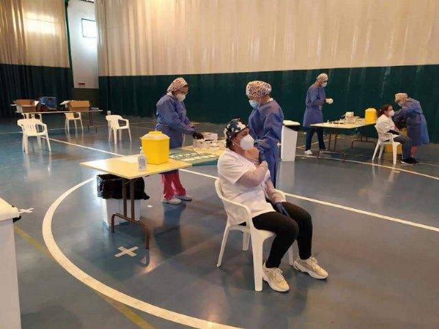 [Arranca el proceso de vacunación masiva en el municipio de Totana
