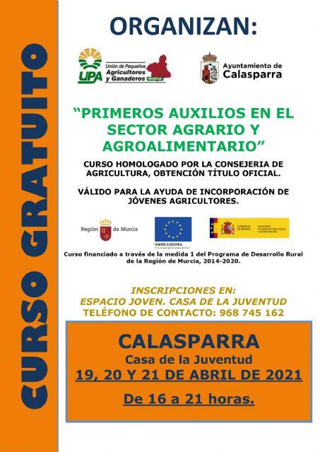 El Ayuntamiento de Calasparra organiza un nuevo programa de formación gratuito para este 2021 en colaboración con UPA - 1, Foto 1
