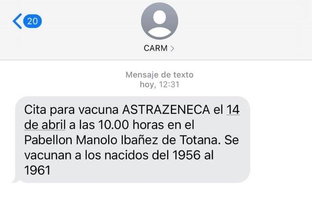 [El alcalde de Totana se vacunará el miércoles con ASTRAZENECA