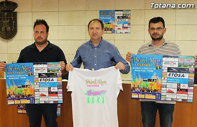 "The ""Paint Run Festival"" will be held, for the first time in Totana, on Saturday, June 24, at the fairgrounds"