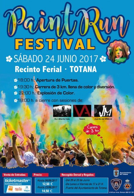 "The ""Paint Run Festival"" will be held, for the first time in Totana, on Saturday, June 24, at the fairgrounds, Foto 8"