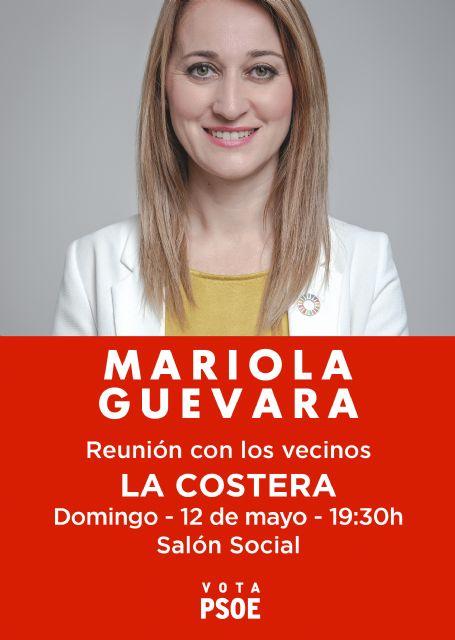 Mariola Guevara visitará hoy las pedanías de El Cañarico y La Costera - 1, Foto 1