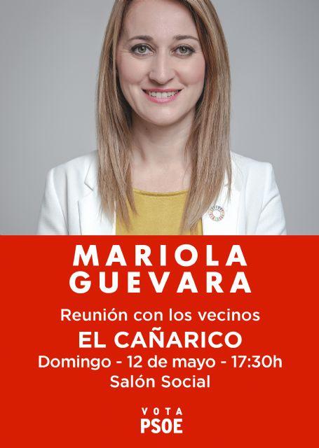Mariola Guevara visitará hoy las pedanías de El Cañarico y La Costera - 2, Foto 2
