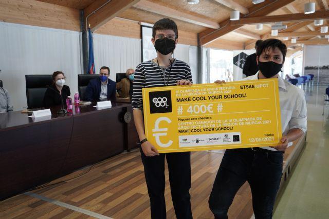 Estudiantes de Jumilla ganan la Olimpiada de Arquitectura colonizando para clases prácticas la azotea de su instituto - 2, Foto 2