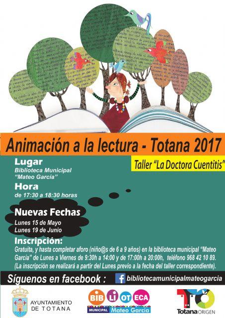 Se abre hoy el plazo de inscripción para participar en el Taller de Animación a la Lectura Doctora Cuentitis, Foto 1